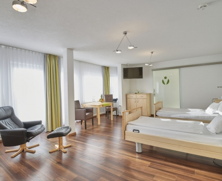 Double room of Hallwang Clinic Germany