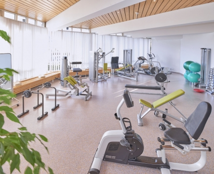 Gym of Hallwang Clinic Germany